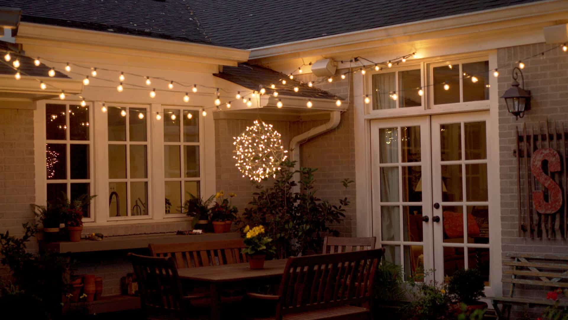 Hang String Lights in your yard