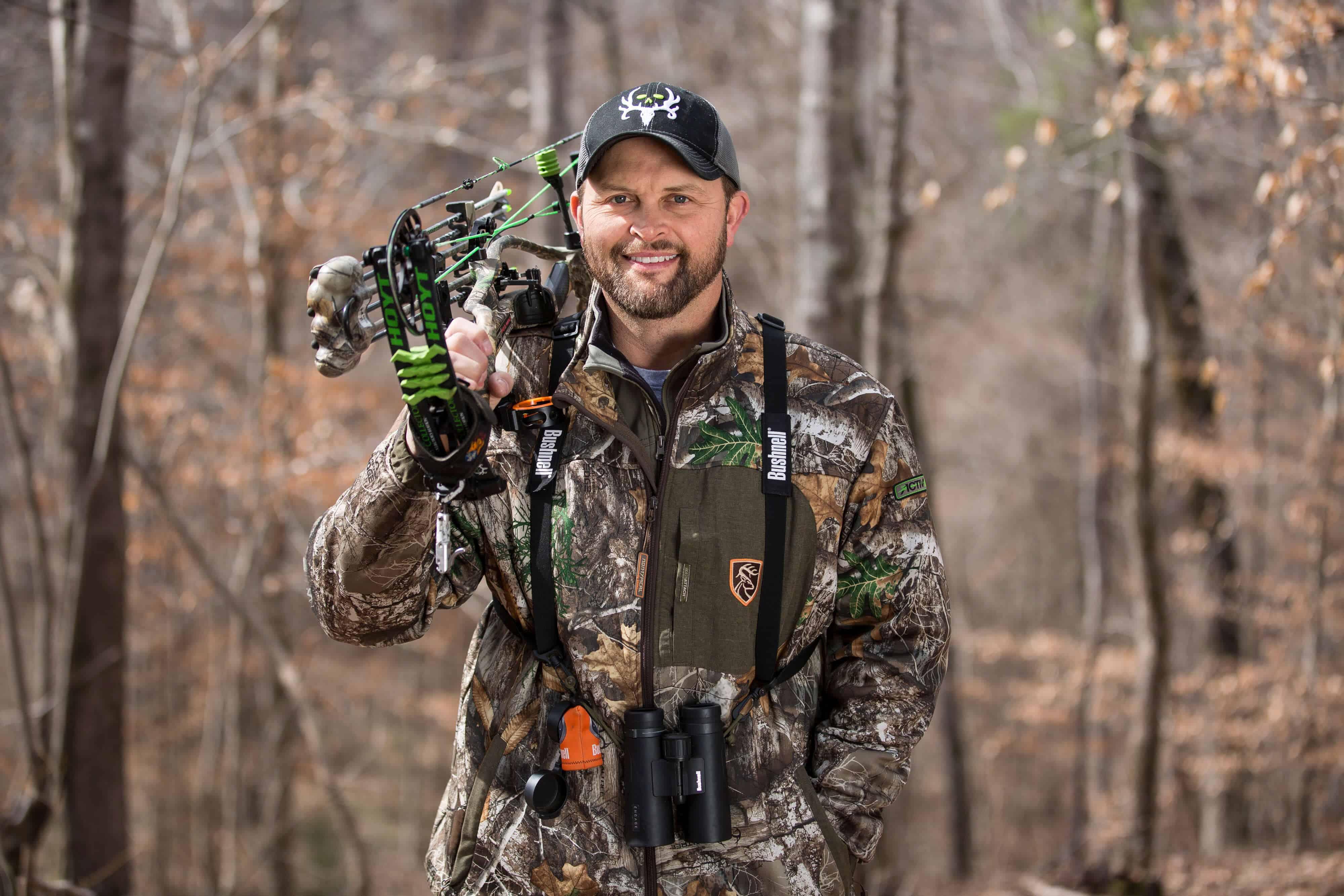 Bow hunter Michael Waddell