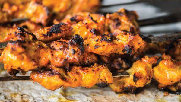 Honey Curry Chicken kabobs recipe