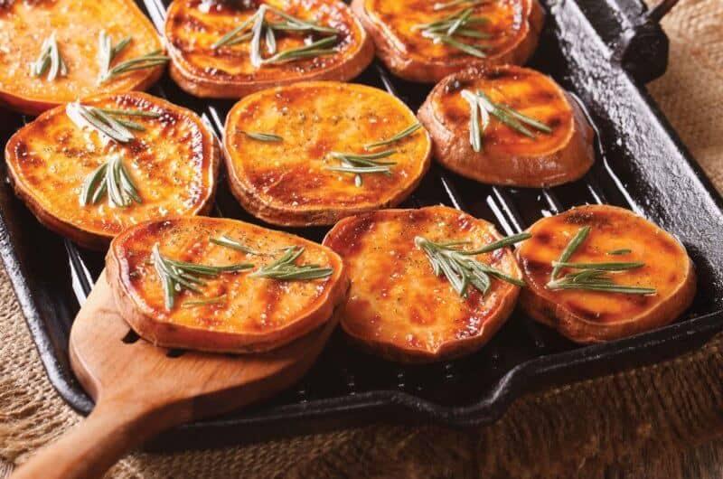 Joe Thomas's Grilled Sweet Potato Slices