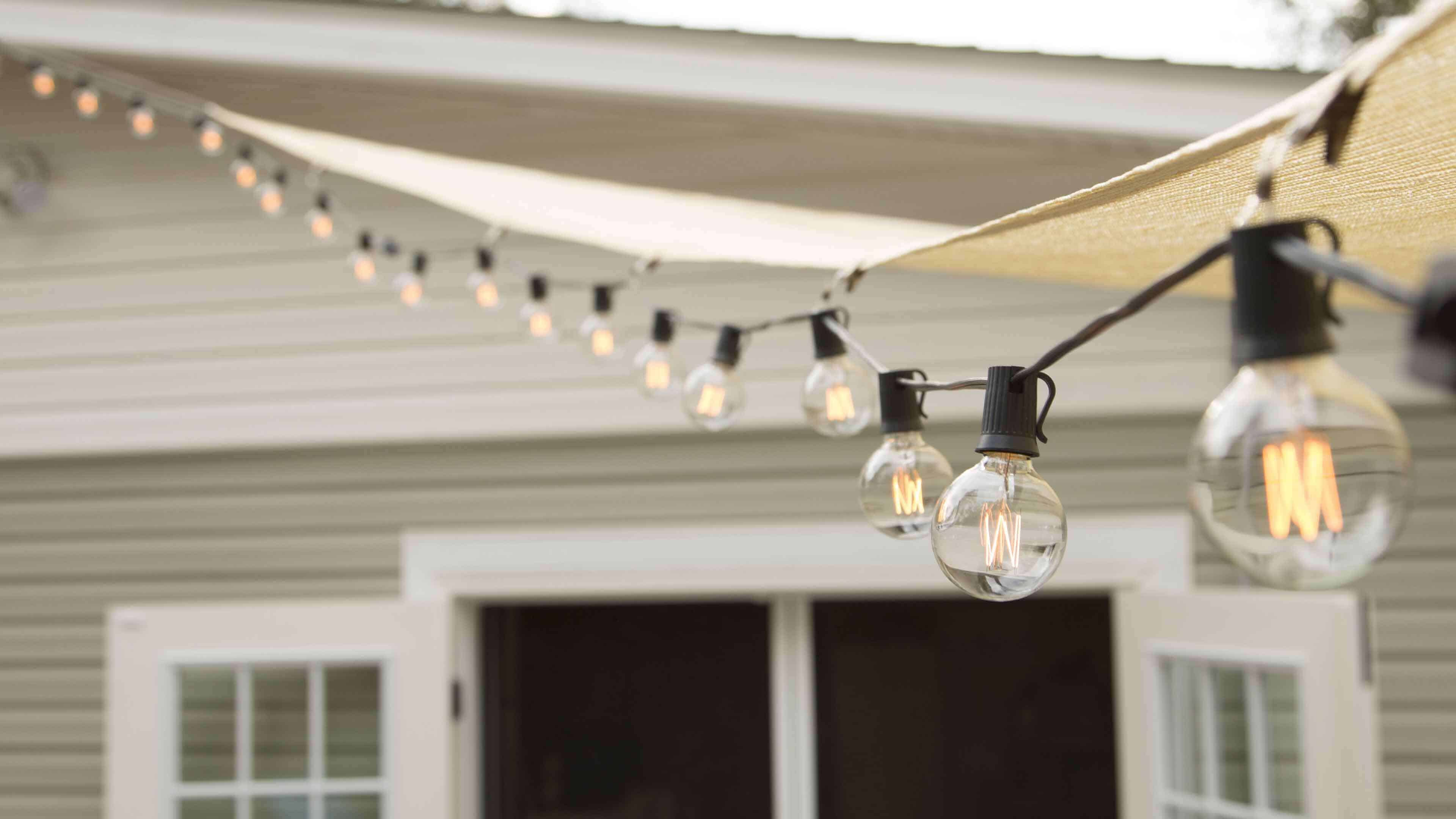 string lights ad ambiance to your canopy