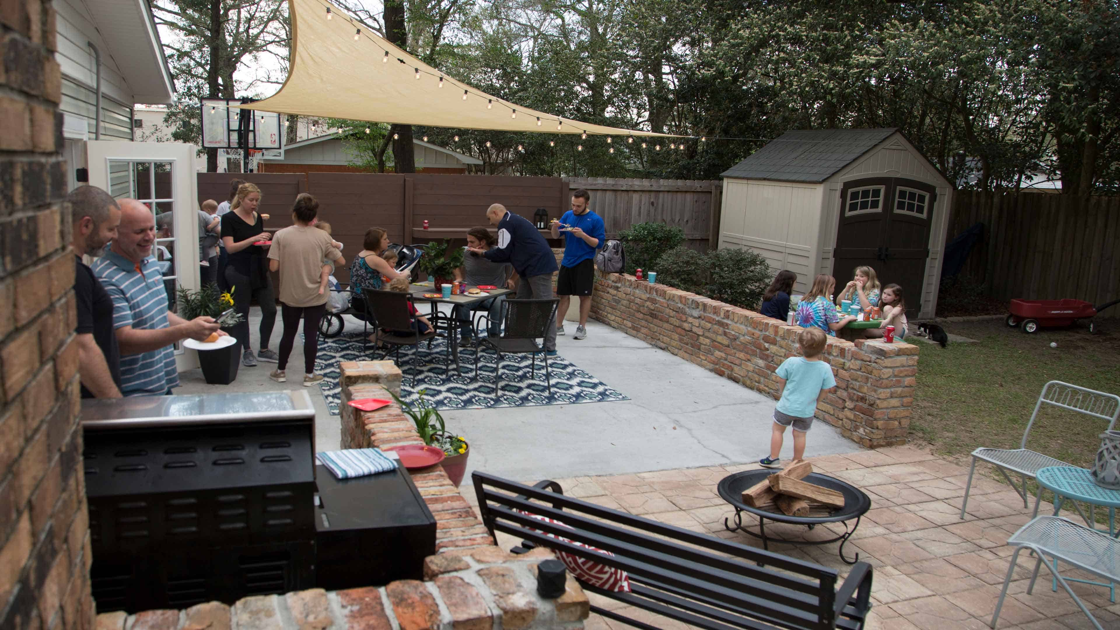 Essential backyard party guest zones