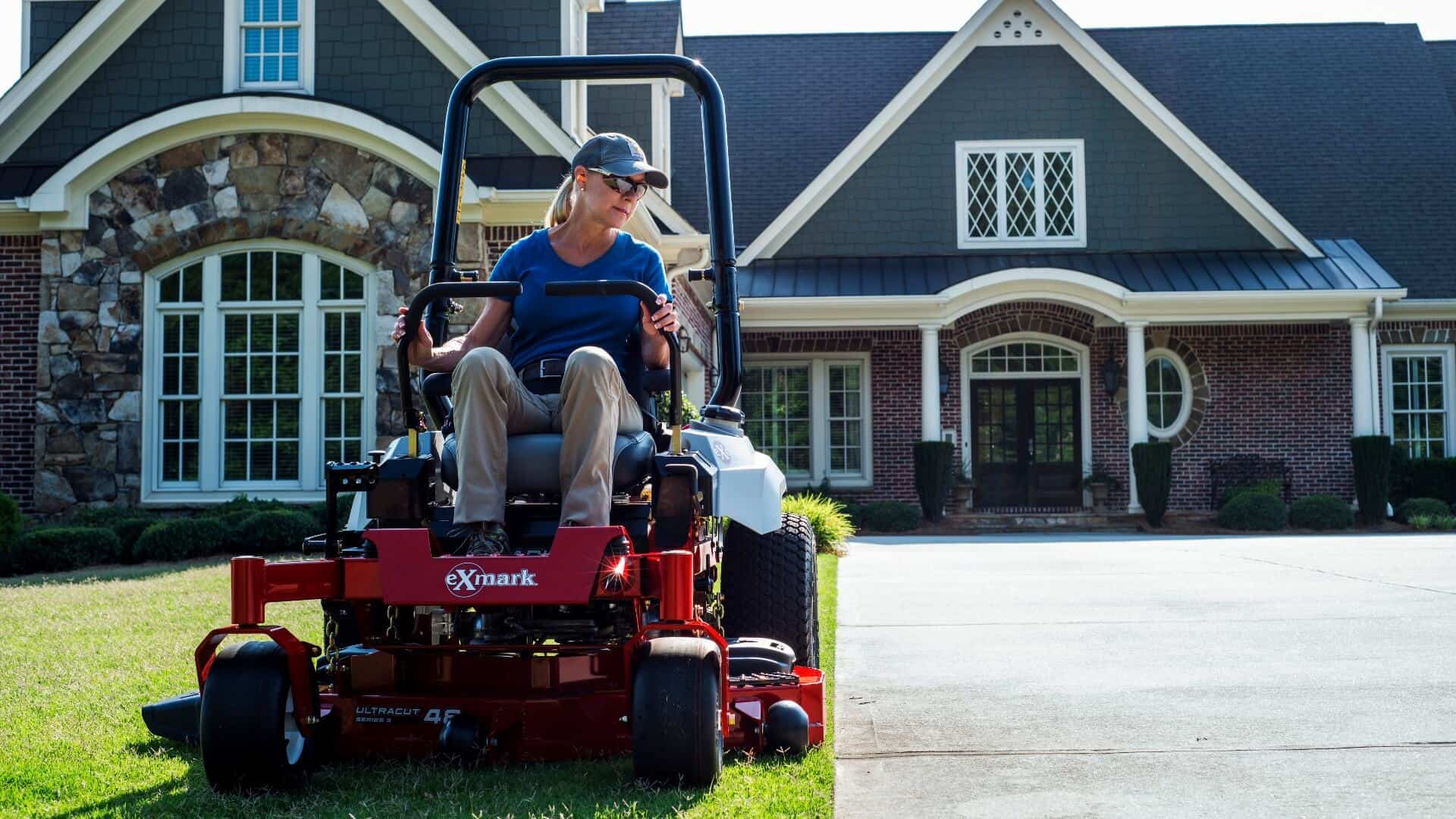 Mowing lawn during hot weather