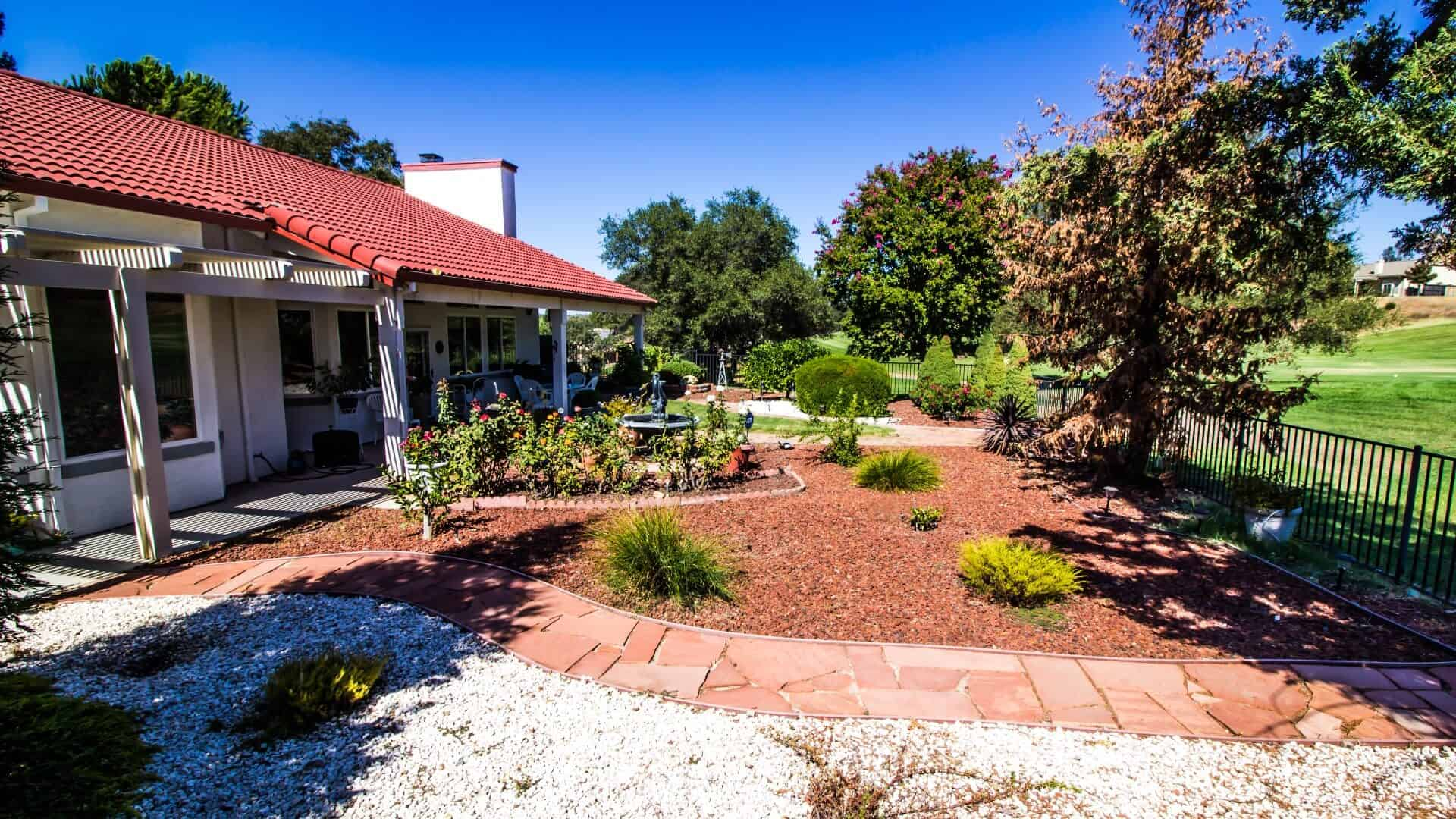 Residential landscaping that reduces fire hazards