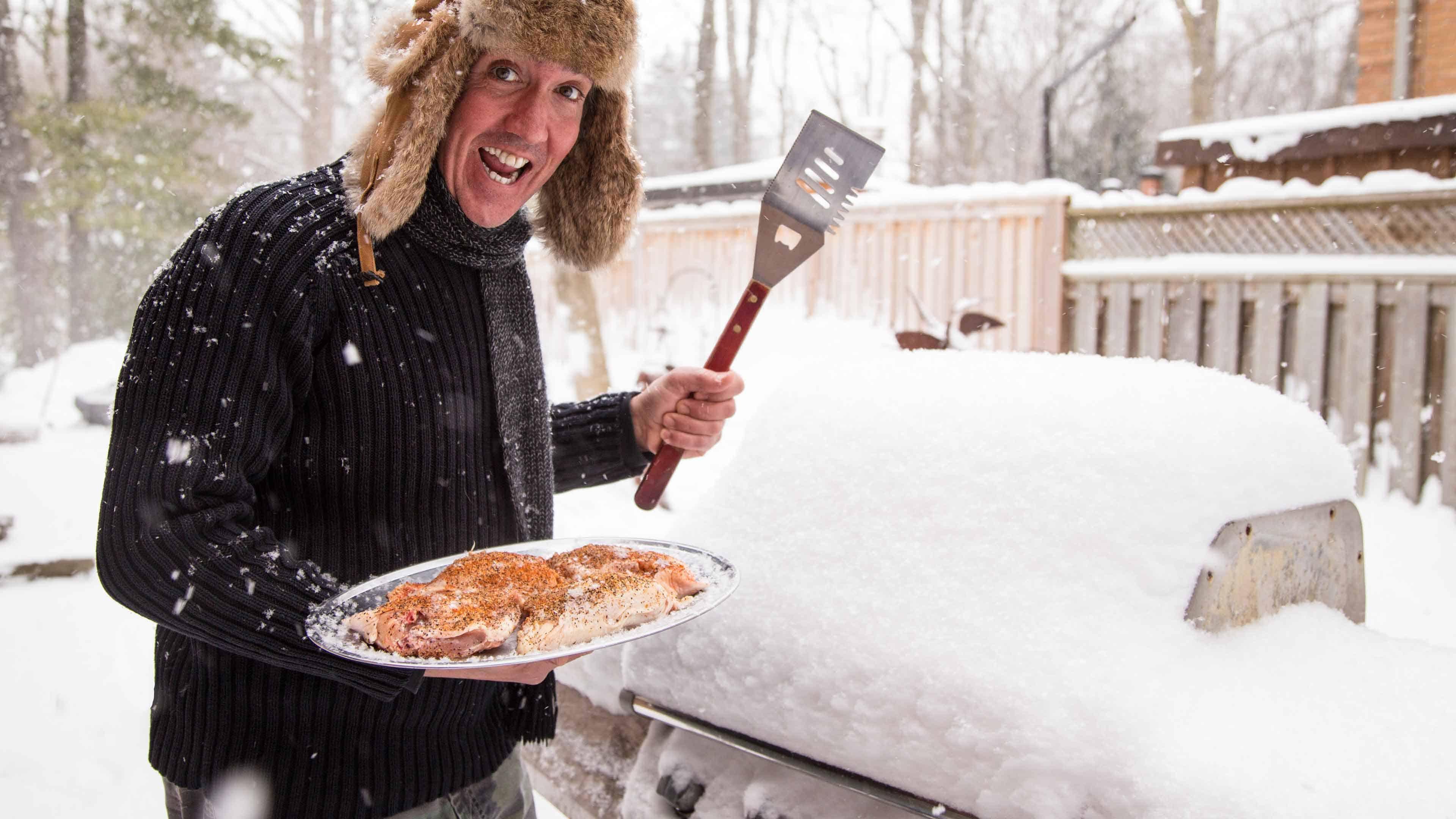 Winter grillingin the Snow!