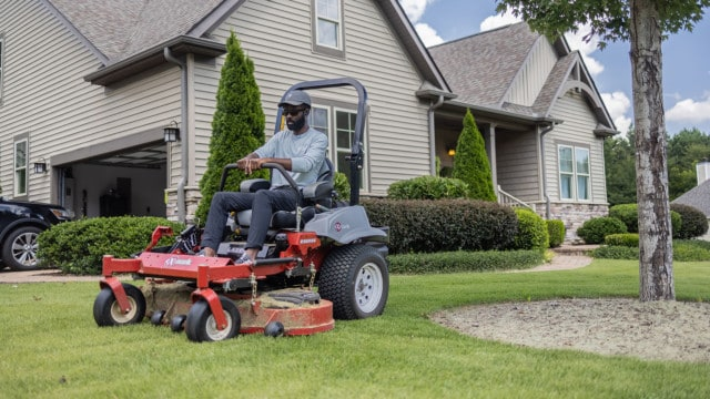 Brian Latimer credits his immaculate lawn to proper irrigation.